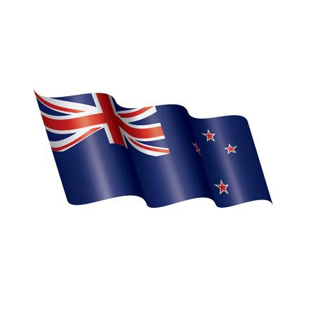 Illustration pour New Zealand national flag, vector illustration on a white background - image libre de droit