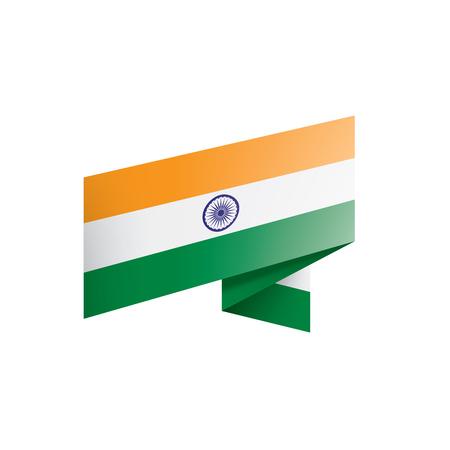 Illustration pour India flag, vector illustration on a white background - image libre de droit
