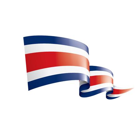 Illustration pour Costa Rica national flag, vector illustration on a white background - image libre de droit