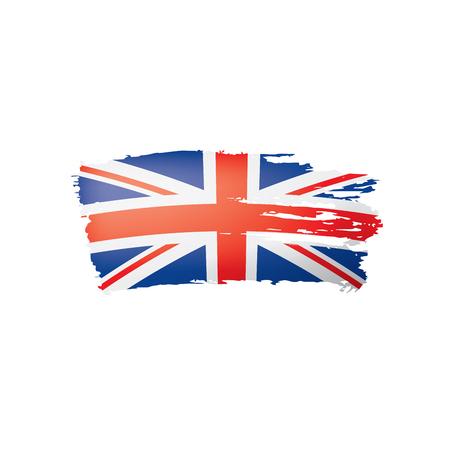 Illustrazione per United Kingdom flag, vector illustration on a white background - Immagini Royalty Free