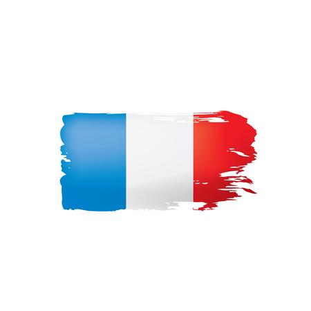 Illustrazione per France flag, vector illustration on a white background. - Immagini Royalty Free