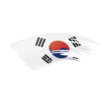 Illustration pour South Korean flag, vector illustration on a white background - image libre de droit