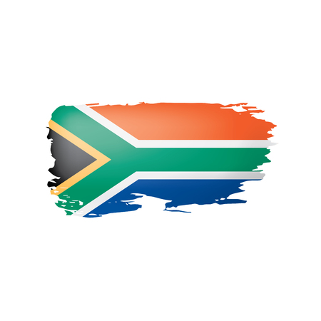 Illustrazione per south africa flag, vector illustration on a white background - Immagini Royalty Free