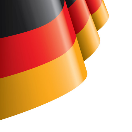 Illustrazione per Germany flag, vector illustration on a white background. - Immagini Royalty Free
