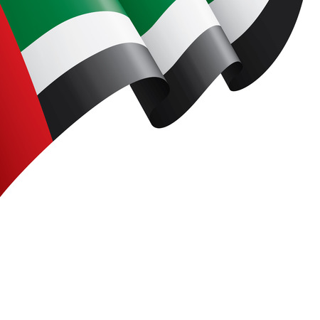 Illustration pour United Arab Emirates national flag, vector illustration on a white background - image libre de droit