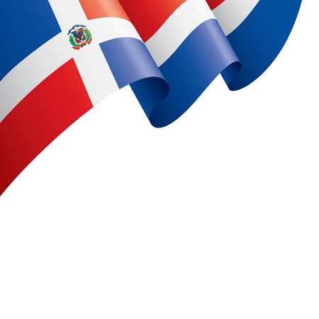 Illustrazione per Dominicana national flag, vector illustration on a white background - Immagini Royalty Free
