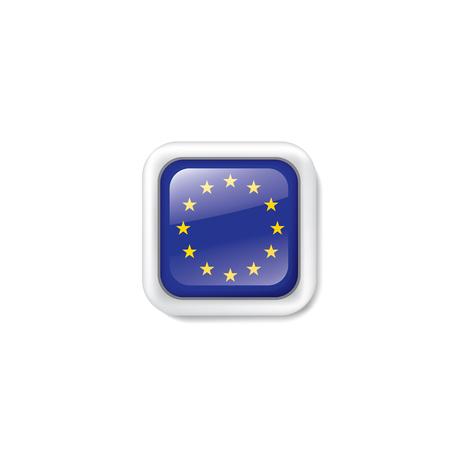 Illustrazione per European union flag, vector illustration on a white background. - Immagini Royalty Free