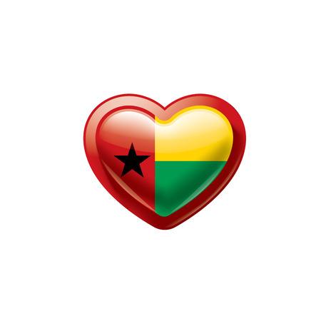 Illustration pour Guinea Bissau national flag, vector illustration on a white background - image libre de droit