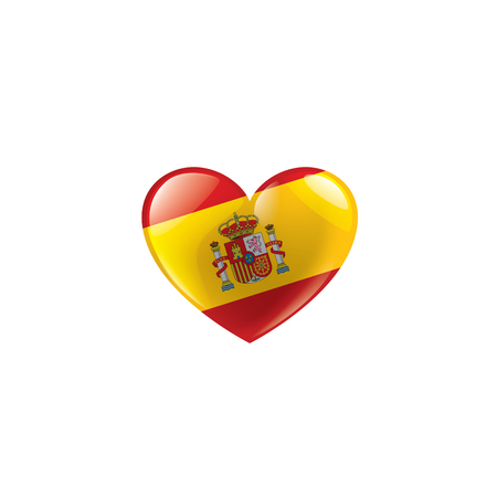 Illustrazione per spain national flag, vector illustration on a white background - Immagini Royalty Free