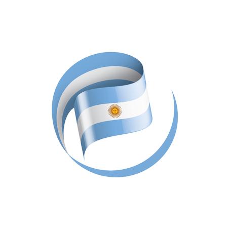 Illustrazione per Argentina flag, vector illustration on a white background - Immagini Royalty Free
