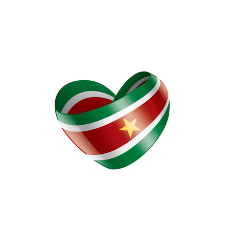 Illustrazione per Suriname national flag, vector illustration on a white background - Immagini Royalty Free