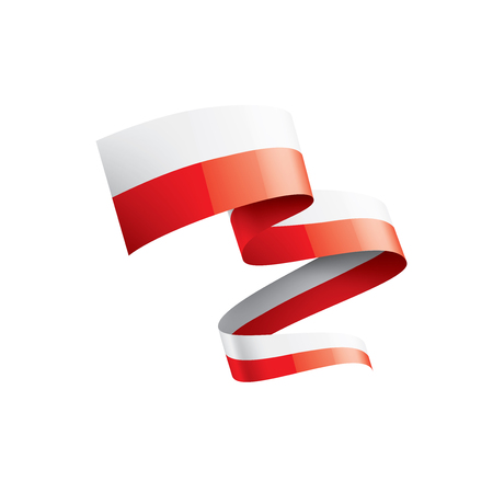 Illustrazione per Poland flag, vector illustration on a white background. - Immagini Royalty Free