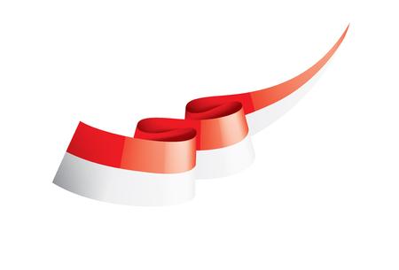 Illustration pour Indonesia flag, vector illustration on a white background. - image libre de droit