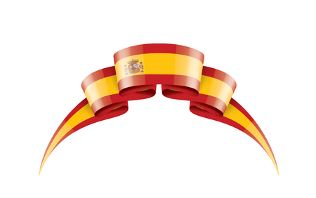 Illustration pour spain national flag, vector illustration on a white background - image libre de droit