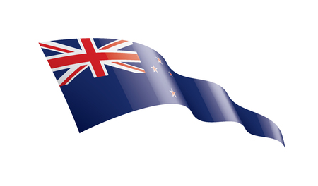 Illustrazione per New Zealand national flag, vector illustration on a white background - Immagini Royalty Free