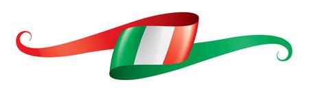 Illustration pour Italy flag, vector illustration on a white background - image libre de droit