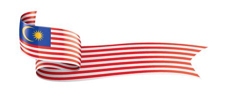Illustrazione per Malaysia flag, vector illustration on a white background - Immagini Royalty Free