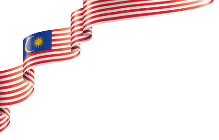 Illustration pour Malaysia flag, vector illustration on a white background - image libre de droit