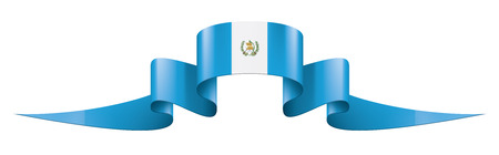 Illustration pour Guatemala national flag, vector illustration on a white background - image libre de droit