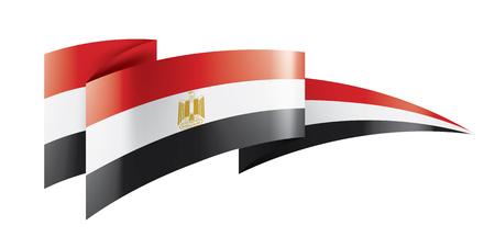 Illustrazione per Egypt national flag, vector illustration on a white background - Immagini Royalty Free