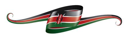Illustrazione per Kenya national flag, vector illustration on a white background - Immagini Royalty Free