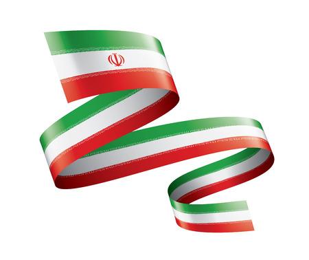 Illustration pour Iran flag, vector illustration on a white background - image libre de droit