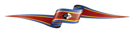 Illustration pour Swaziland flag, vector illustration on a white background - image libre de droit