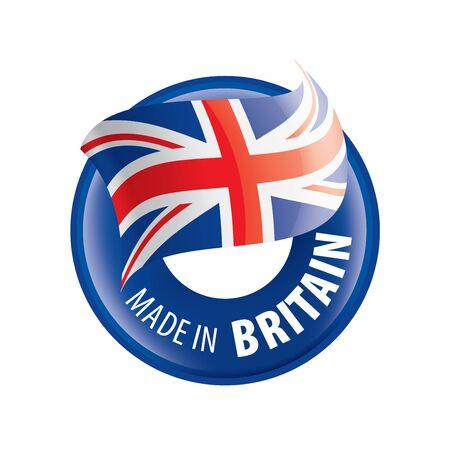 Illustration pour United Kingdom flag, vector illustration on a white background - image libre de droit