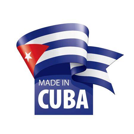 Illustrazione per Cuba flag, vector illustration on a white background - Immagini Royalty Free