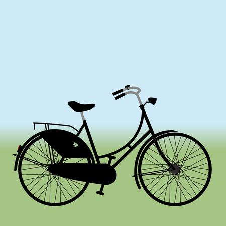 Ilustración de Black Dutch bike - Imagen libre de derechos