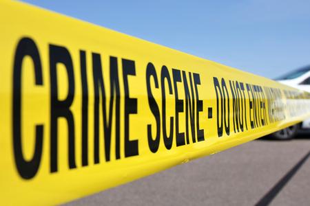 Photo pour police line at crime scene - image libre de droit