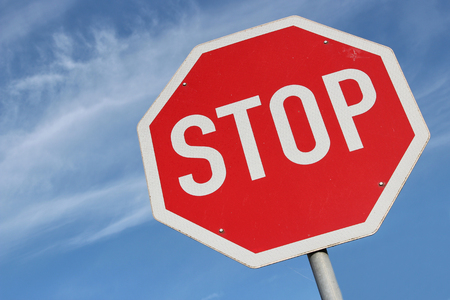 Photo for German road sign - stop - Royalty Free Image