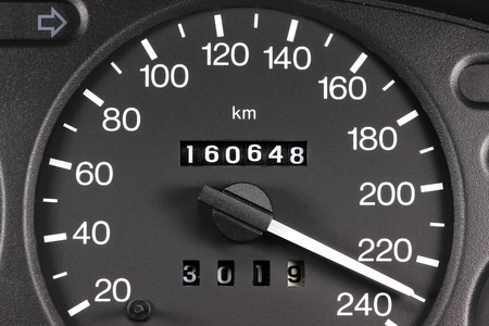 Photo pour speedometer at full speed - image libre de droit