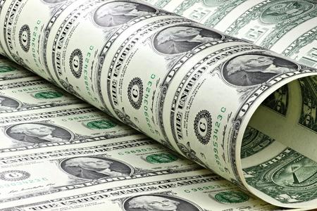 Photo pour 1 US Dollar sheet uncut - image libre de droit