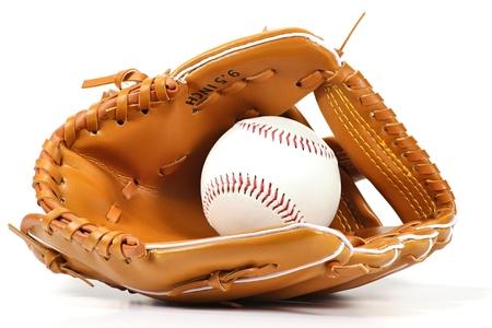 baseball equipment isolated on white background