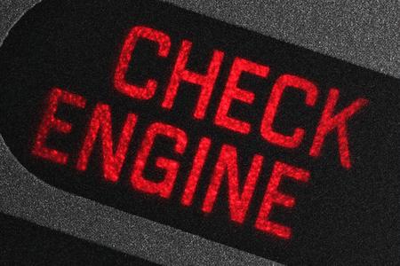 Photo pour check engine warning light in car dashboard - image libre de droit