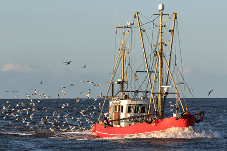 Photo for fishing vessel at sea - Royalty Free Image