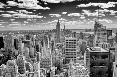 Foto de New York Skyline, Panorama over Manhattan from the Top of the Rocks Observation Deck - Imagen libre de derechos