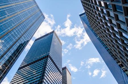 Foto de Skyscrapers in Manhattan, New York City - Imagen libre de derechos