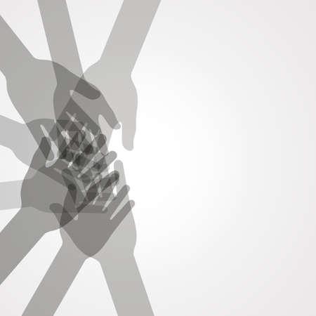 Illustration pour unity hands vector - image libre de droit