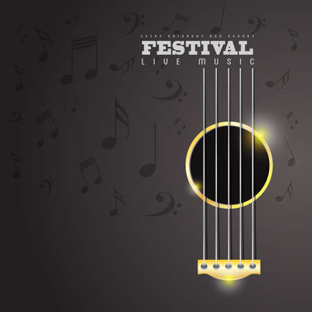 Illustration for Music Festival poster concept - Royalty Free Image