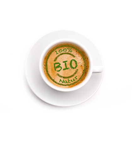 Photo for Organic Coffee Isolated - Royalty Free Image