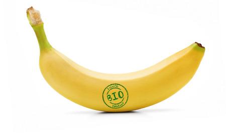 Photo for Organic Banana Isolated - Royalty Free Image