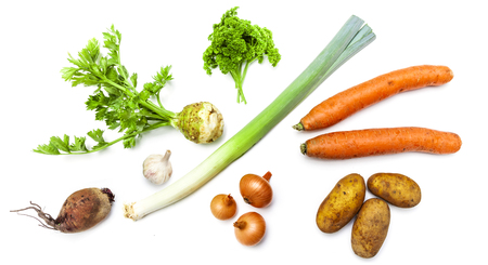 Photo for Organic Vegetables isolated - Royalty Free Image