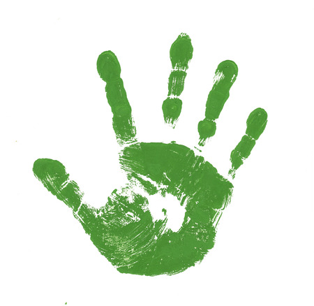 Photo for Green Handprint - Royalty Free Image