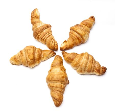 Photo for French croissants isolated on white background - Royalty Free Image