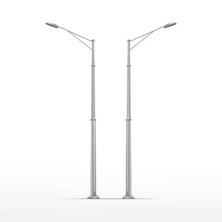 Illustration pour Vector Street Lamp Isolated on White Background - image libre de droit