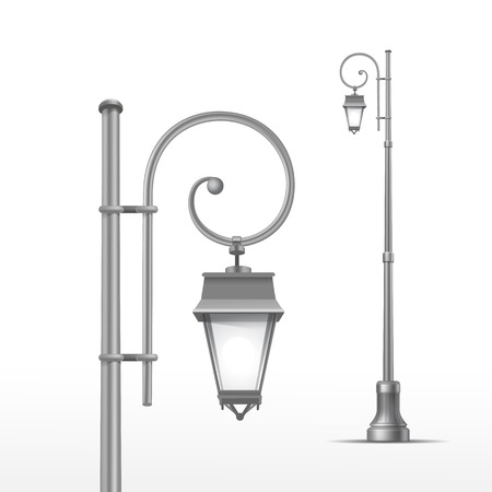 Illustration pour Vector Street Lamp Isolated on White Background - image libre de droit
