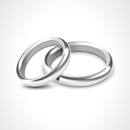 Photo pour Silver Rings Isolated on White Background - image libre de droit