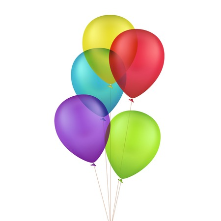 Illustration pour Vector Multicolored Colorful Balloons Isolated on White Background - image libre de droit